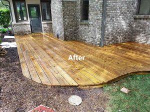 After sealing a deck