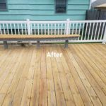 After wood sealing